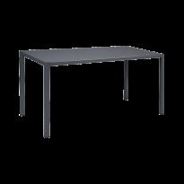 Table INSIDE OUT de Fermob, 140 x 70, Carbone