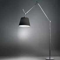LAMPADAIRE TOLOMEO MEGA,  dimmable, corps noir, diffuseur satin noir  Ø 42 cm de ARTEMIDE