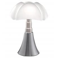 Lampe à poser PIPISTRELLO de Martinelli Luce, Aluminium satiné