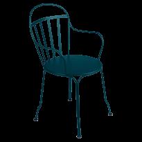 FAUTEUIL LOUVRE, Bleu acapulco de FERMOB