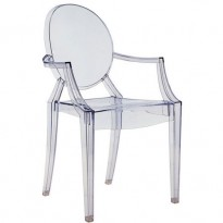 FAUTEUIL LOUIS GHOST DE KARTELL, BLEU TRANSPARENT