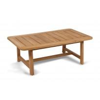TABLE BASSE LODGE DE VLAEMYNCK, 110 X 65 CM, TECK
