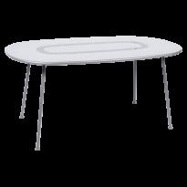 TABLE OVALE LORETTE 160 x 90 cm, Blanc coton de FERMOB