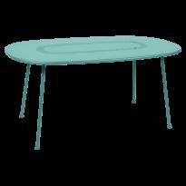 TABLE OVALE LORETTE 160 x 90 cm, Bleu lagune de FERMOB