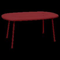 TABLE OVALE LORETTE 160 x 90 cm, Piment de FERMOB