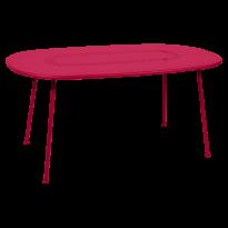 TABLE OVALE LORETTE 160 x 90 cm, Rose praline de FERMOB