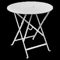 TABLE RONDE PLIANTE LORETTE, Blanc coton, D. 77 de FERMOB