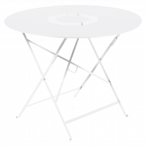 TABLE RONDE PLIANTE LORETTE, Blanc coton, D. 96 de FERMOB