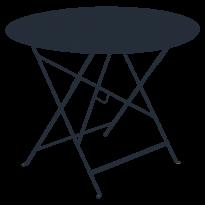 TABLE RONDE PLIANTE LORETTE, Bleu abysse, D. 96 de FERMOB