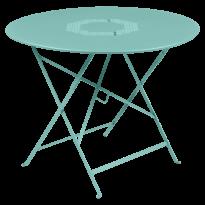 TABLE RONDE PLIANTE LORETTE, Bleu lagune, D. 96 de FERMOB