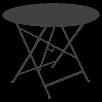 TABLE RONDE PLIANTE LORETTE, Carbone, D. 96 de FERMOB