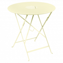 TABLE RONDE PLIANTE LORETTE, Citron givré, D. 77 de FERMOB