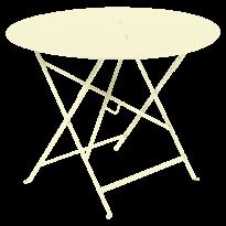 TABLE RONDE PLIANTE LORETTE, Citron givré, D. 96 de FERMOB