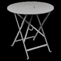 TABLE RONDE PLIANTE LORETTE, Gris métal, D. 77 de FERMOB