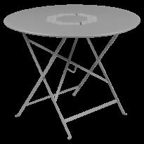 TABLE RONDE PLIANTE LORETTE, Gris métal, D. 96 de FERMOB