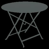 TABLE RONDE PLIANTE LORETTE, Gris orage, D. 96 de FERMOB