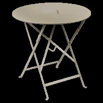TABLE RONDE PLIANTE LORETTE, Muscade, D. 77 de FERMOB