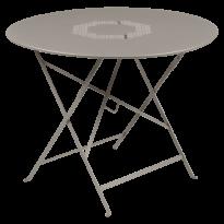 TABLE RONDE PLIANTE LORETTE, Muscade, D. 96 de FERMOB