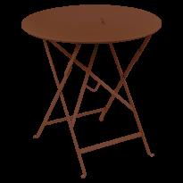TABLE RONDE PLIANTE LORETTE, Ocre rouge, D. 77 de FERMOB