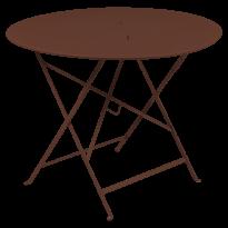 TABLE RONDE PLIANTE LORETTE, Ocre rouge, D. 96 de FERMOB