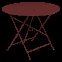 TABLE RONDE PLIANTE LORETTE, Piment, D. 96 de FERMOB