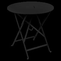 TABLE RONDE PLIANTE LORETTE, Réglisse, D. 77 de FERMOB