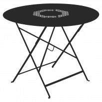 TABLE RONDE PLIANTE LORETTE, Réglisse, D. 96 de FERMOB