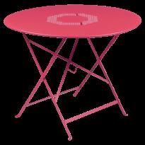 TABLE RONDE PLIANTE LORETTE, Rose praline, D. 96 de FERMOB