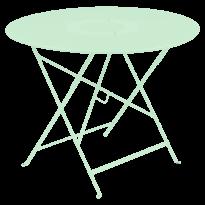 TABLE RONDE PLIANTE LORETTE, Vert opaline, D. 96 de FERMOB