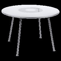 TABLE RONDE LORETTE Ø.110 cm, Blanc coton de FERMOB