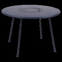 TABLE RONDE LORETTE Ø.110 cm, Bleu abysse de FERMOB