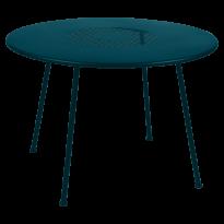 TABLE RONDE LORETTE Ø.110 cm, Bleu acapulco de FERMOB