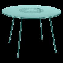TABLE RONDE LORETTE Ø.110 cm, Bleu lagune de FERMOB