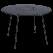 TABLE RONDE LORETTE Ø.110 cm, Carbone de FERMOB