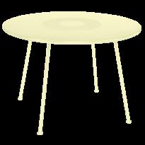 TABLE RONDE LORETTE Ø.110 cm, Citron givré de FERMOB