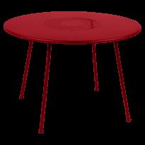TABLE RONDE LORETTE Ø.110 cm, Coquelicot de FERMOB