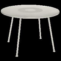 TABLE RONDE LORETTE Ø.110 cm, Gris argile de FERMOB