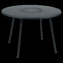 TABLE RONDE LORETTE Ø.110 cm, Gris orage de FERMOB