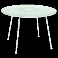 TABLE RONDE LORETTE Ø.110 cm, Menthe glaciale de FERMOB