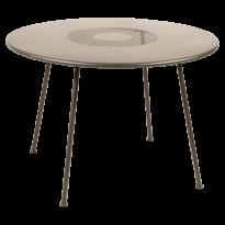 TABLE RONDE LORETTE Ø.110 cm, Muscade de FERMOB