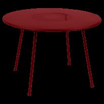 TABLE RONDE LORETTE Ø.110 cm, Piment de FERMOB