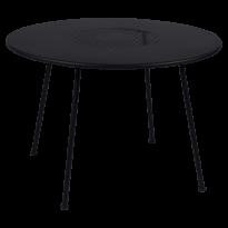 TABLE RONDE LORETTE Ø.110 cm, Réglisse de FERMOB