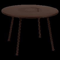 TABLE RONDE LORETTE Ø.110 cm, Rouille de FERMOB
