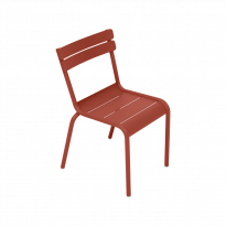 CHAISE LUXEMBOURG KID, Ocre rouge de FERMOB