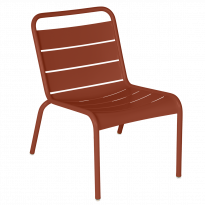Chaise lounge LUXEMBOURG de Fermob, Ocre rouge