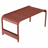 GRANDE TABLE BASSE LUXEMBOURG, Ocre rouge de FERMOB