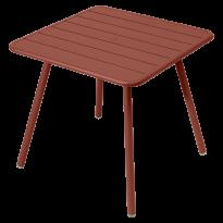 TABLE CARRÉE 4 PIEDS LUXEMBOURG 80 x 80 cm, Ocre rouge de FERMOB