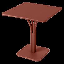 TABLE CARRÉE LUXEMBOURG 80x80 cm, Ocre rouge de FERMOB