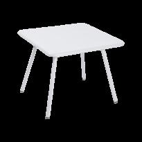 TABLE 57 x 57 LUXEMBOURG KID, Blanc coton de FERMOB
