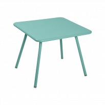 TABLE 57 x 57 LUXEMBOURG KID, Bleu lagune de FERMOB